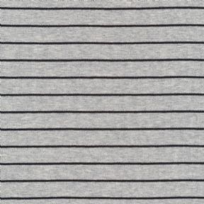 Stripes 2017 Heather Grey - Jersey - Per Quarter Metre